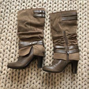 Fergalicious Tan Fashion Boots